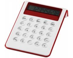 Osmimístná velká kalkulačka RIFE se zvukem - bílá / červená