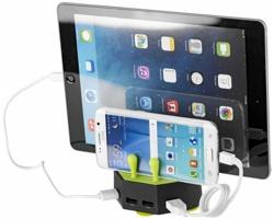 Výkonná nabíječka EASYLOS pro nabíjení více zařízení současně - černá / jemně zelená