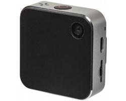 Plastová mini HD kamera BORE s klipem pro upevnění na oblečení - stříbrná