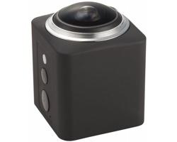 Plastová akční Wi-Fi kamera RICE s HD objektivem - černá