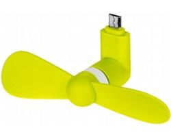 Silikonový micro USB ventilátor FANITO - jemně zelená