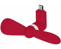 Silikonový micro USB ventilátor FANITO - červená