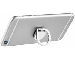 Hliníkový kroužek na telefon VALVA s funkcí stojánku - stříbrná