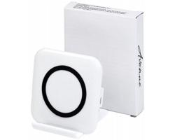 Plastový bezdrátový stojánek na chytrý telefon PAILS - bílá