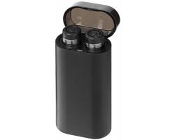 Bezdrátová sluchátka OLES s powerbankou se svítícím gravírováním - černá