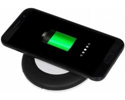 Bezdrátová dobíjecí podložka KELPS s micro USB kabelem, 2v1 - černá