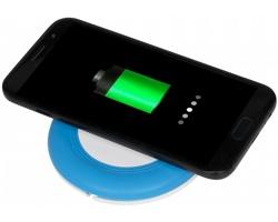 Bezdrátová dobíjecí podložka KELPS s micro USB kabelem, 2v1 - světle modrá
