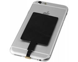 Přijímač pro bezdrátové nabíjení telefonů FRANKFORT pro telefony se systémem iOS - černá