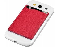 Textilní pouzdro na karty RAJAH s RFID ochranou - červená