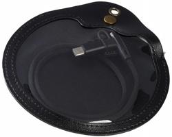 Textilní nabíjecí kabel BUREN v pouzdře, 3v1 - černá