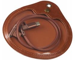 Textilní nabíjecí kabel BUREN v pouzdře, 3v1 - hnědá