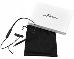 Bezdrátová bluetooth sluchátka LIFE s dvojitou baterií - černá