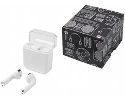 Bezdrátová sluchátka ALLISON s bezdrátovým dobíjením - bílá