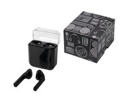Bezdrátová sluchátka ALLISON s bezdrátovým dobíjením - černá