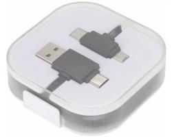 Plastový nabíjecí a datový kabel USB FEND - černá
