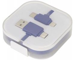 Plastový nabíjecí a datový kabel USB FEND - královská modrá