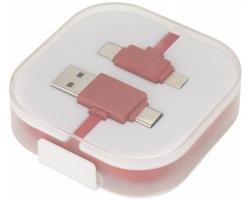 Plastový nabíjecí a datový kabel USB FEND - červená