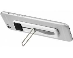 Plastový stojánek na chytrý telefon TACO s poutkem na prst - černá
