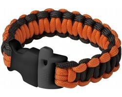 Náramek pro přežití Elevate ELLIOTT s nosností až 250 kg - černá / oranžová