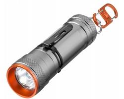 Hliníková super jasná LED svítilna Elevate WEYBURN se 4 režimy svícení - šedá