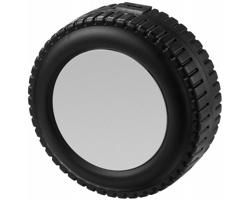 Sada nářadí MEMPHIS v pouzdře tvaru kola, 25 dílů - stříbrná / černá