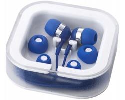 Sluchátka typu pecky FINNS s mikrofonem - královská modrá