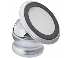 Hliníkový otočný držák telefonu do auta NAFF s magnetem - stříbrná