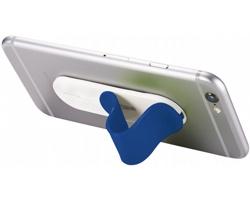 Plastový stojánek na chytrý telefon TOBIE, 2 funkce - modrá