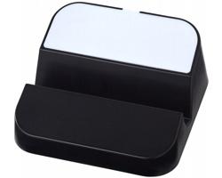 Plastový USB rozbočovač YACK se stojánkem na chytrý telefon, 3 USB porty - černá