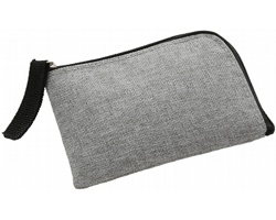 Polyesterové pouzdro na karty ARIAS s ochranou RFID - šedá