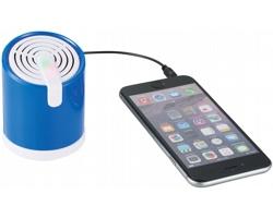 Cestovní kabelový reproduktor NEEDY se světelnými efekty - královská modrá