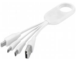 Nabíjecí kabel typu C BIERS se 4 konektory - bílá