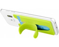 Silikonové pouzdro na kartu MARTHY s funkcí stojánku pro chytrý telefon - jemně zelená