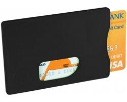 Plastové pouzdro na karty LUCKY s RFID ochranou - černá