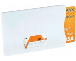 Plastové pouzdro na karty LUCKY s RFID ochranou - bílá