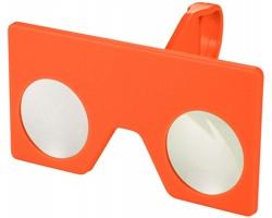 Plastové mini virtuální brýle EAVE pro telefon nebo tablet v dárkovém balení - oranžová
