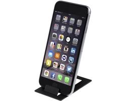 Plastový skládací stojánek na telefon GRISEL - černá