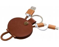 Nabíjecí kabel ELKS 3v1 - hnědá