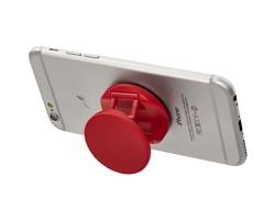 Plastový stojánek na telefon HUNKY s úchytem - červená