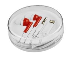 Plastová sluchátka MARGRET s více konektory - červená