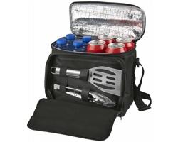 Chladicí taška MULE s grilovacími nástroji, 2 komponenty - černá