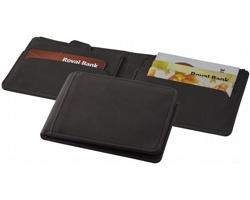 Polyesterová ochranná peněženka na platební karty KYRIE s technologií RFID - černá