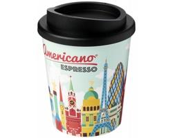 Plastový termohrnek Brite Americano Espresso, 250 ml - černá + plnobarevný potisk celého těla