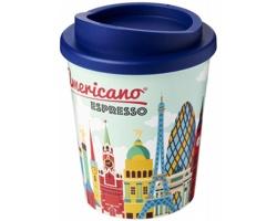 Plastový termohrnek Brite Americano Espresso, 250 ml - modrá + plnobarevný potisk celého těla