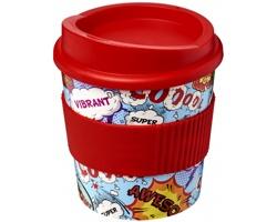 Plastový hrnek Brite Americano Primo, 250 ml - červená + plnobarevný potisk celého těla