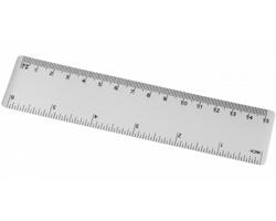Flexibilní pravítko UNPLU, 15 cm - transparentní