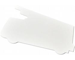 Plastové pravítko VERBA ve tvaru hasičského auta - bílá