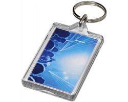 Opakovaně otevíratelná plastová klíčenka BUICK s kovovým kroužkem - transparentní čirá