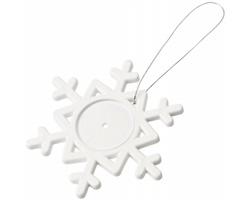 Plastová sněhová vločka AZIDE na provázku - bílá