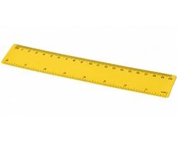 Plastové pravítko LOUISIANA, 20 cm - žlutá